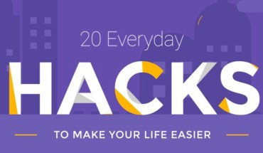 20 Life-Changing Hacks - Infographic