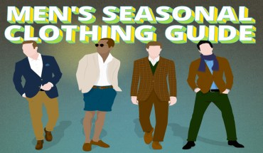 A Clothing Guide For Men, For Every Season - Infographic