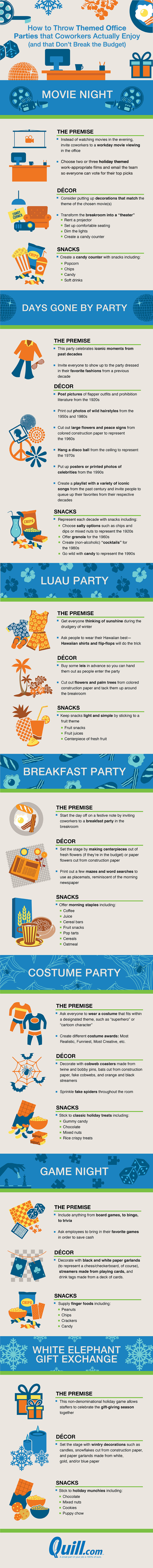 Budgeted But Fun Themed Office Party Ideas - Infographic