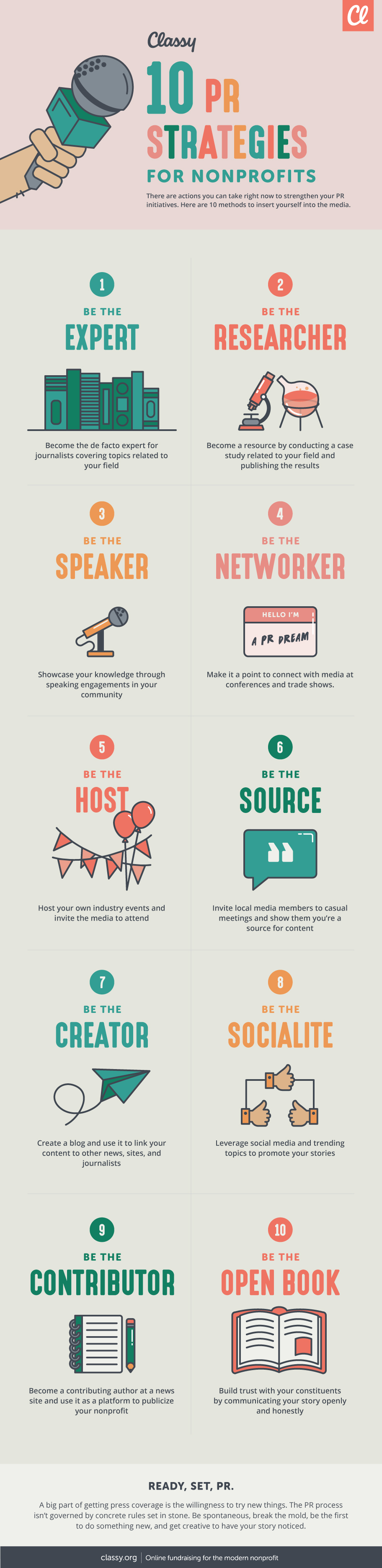 How to Use PR to Get Your Non-Profit Noticed - Infographic