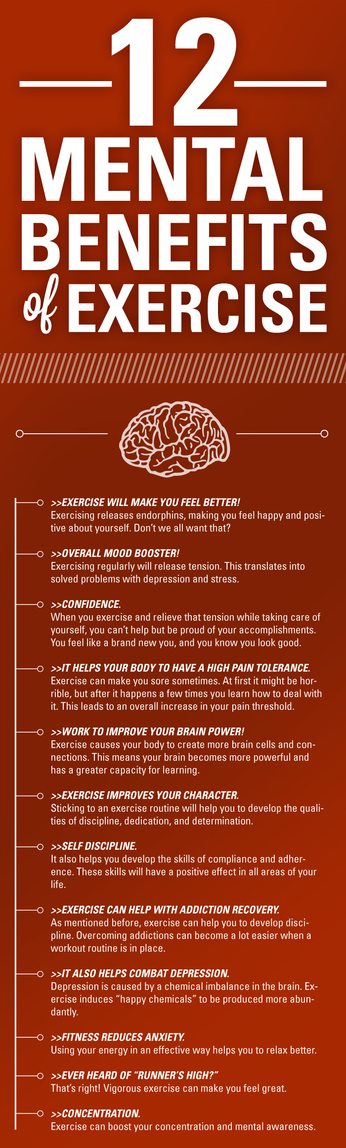 Exercise Your Way to a Fit and Healthy Mind - Infographic