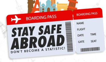 How to Stay Safe When Traveling Abroad - Infographic