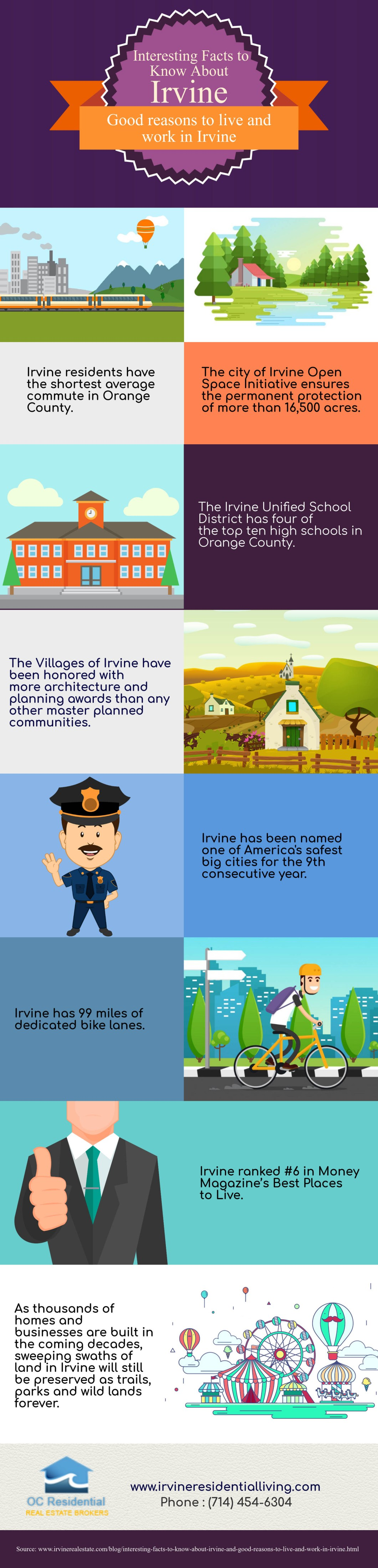 Good Reasons to Live in Irvine, California - Infographic