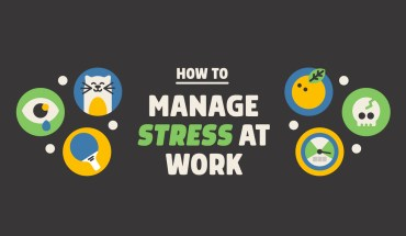 Healthy Ways to Manage Stress at Work - Infographic