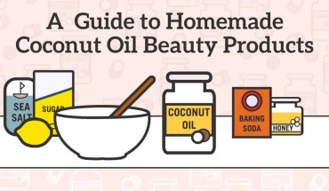 10 Amazing Coconut Oil Beauty Products Recipes - Infographic