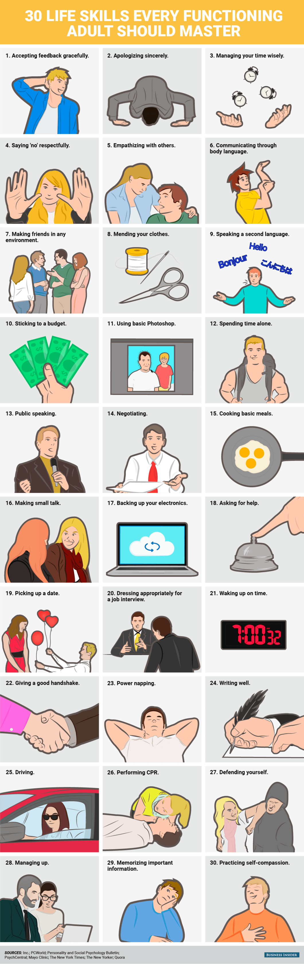 Every Adult's Must-Have List of Life Skills - Infographic