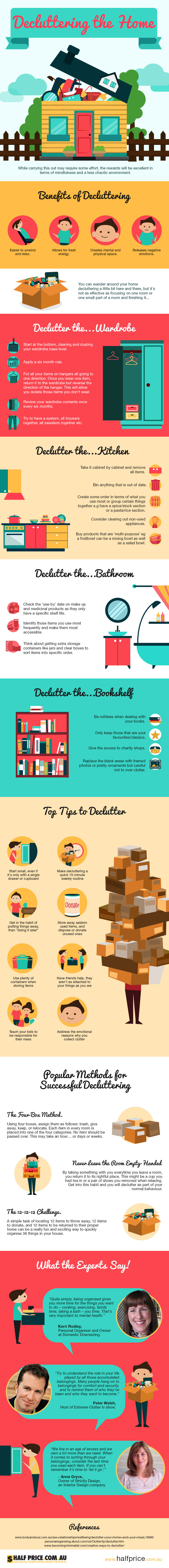 Create New Space: Declutter Your Home - Infographic