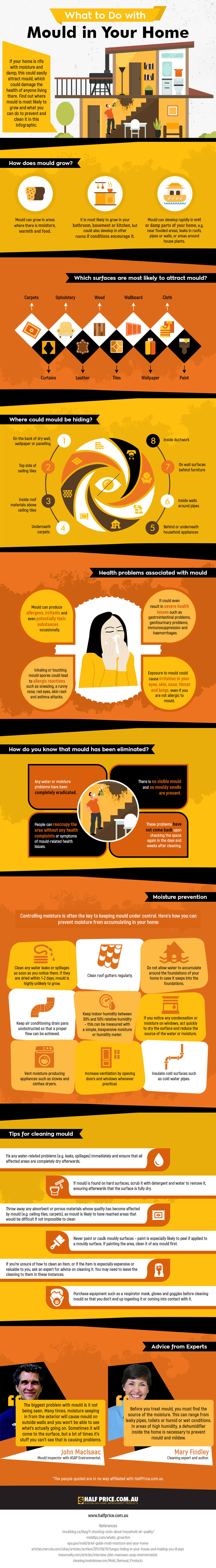 How to Make Your Home Mold-Free Permanently - Infographic