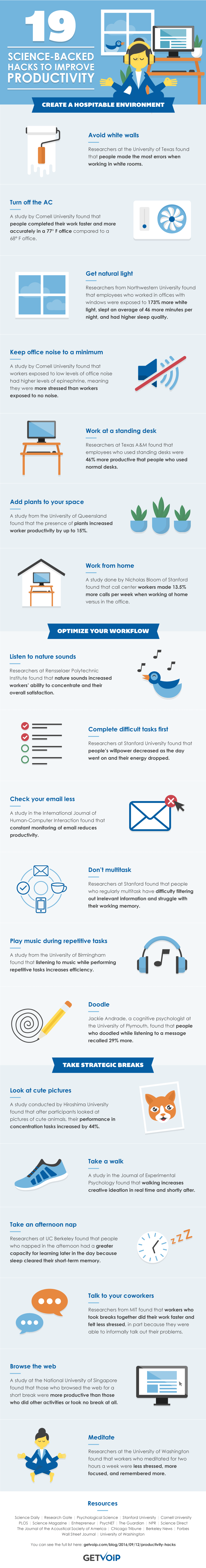 Boost Your Workplace Productivity: 19 Hardworking Tips - Infographic