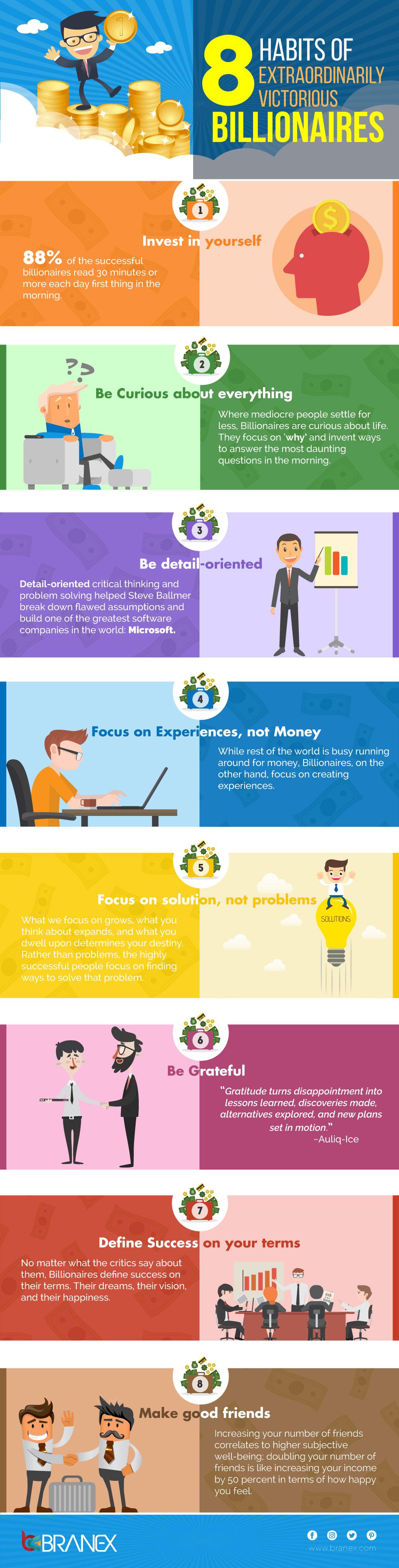 8 Billionaire Habits Worth Emulating - Infographic