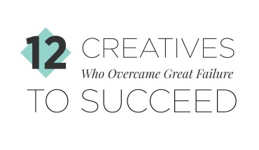 Turning Wounds to Wisdom: How 12 Creative Geniuses Overcame Failure - Infographic