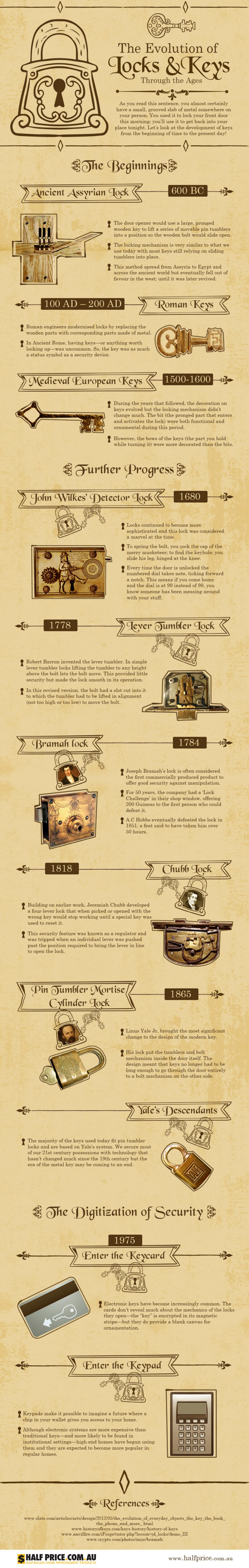 Eternal Quest for Security: Evolution of Locks & Keys - Infographic