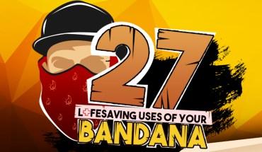 27 Ways the Stylish Bandana Can Be Used – Including Lifesaving! - Infographic