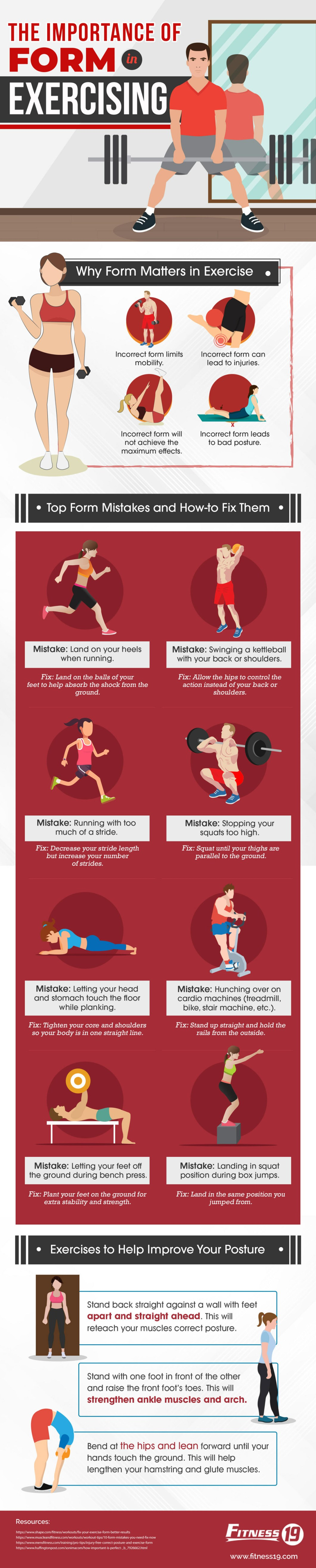 Why Correct Form is Key to Effective Exercising - Infographic