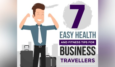 7 Easy Health and Fitness Tips For Business Travellers - Infographic