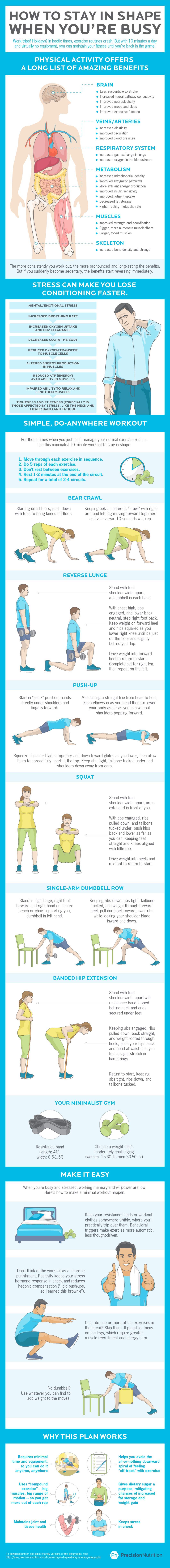 The No-Excuses Smart-and-Short Home Workout Plan for Busy People - Infographic