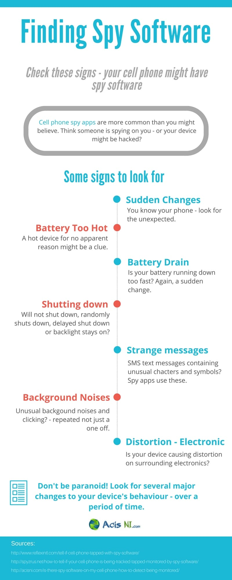 How to Know If Your Phone is Being Attacked by Spyware - Infographic
