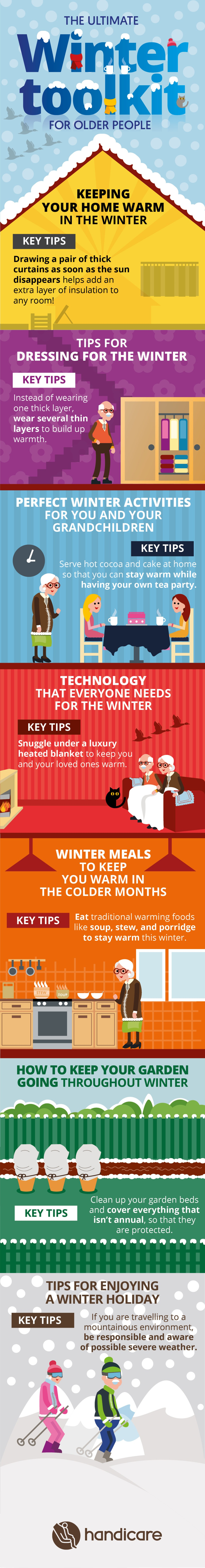 Staying Warm in Winter: Tried-n-Tested Tricks for Older People - Infographic