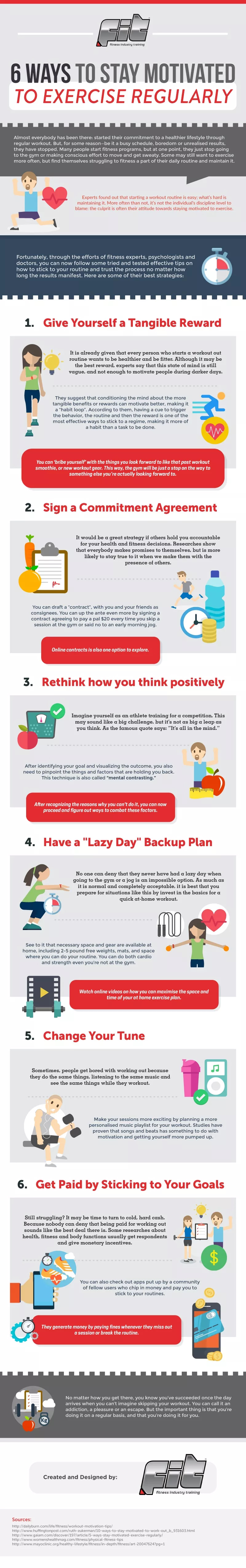 Fitness is a Journey Not Punishment: 6 Great Tips to Build Motivation - Infographic