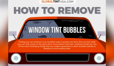 How To Remove Window Tint Bubbles - Infographic