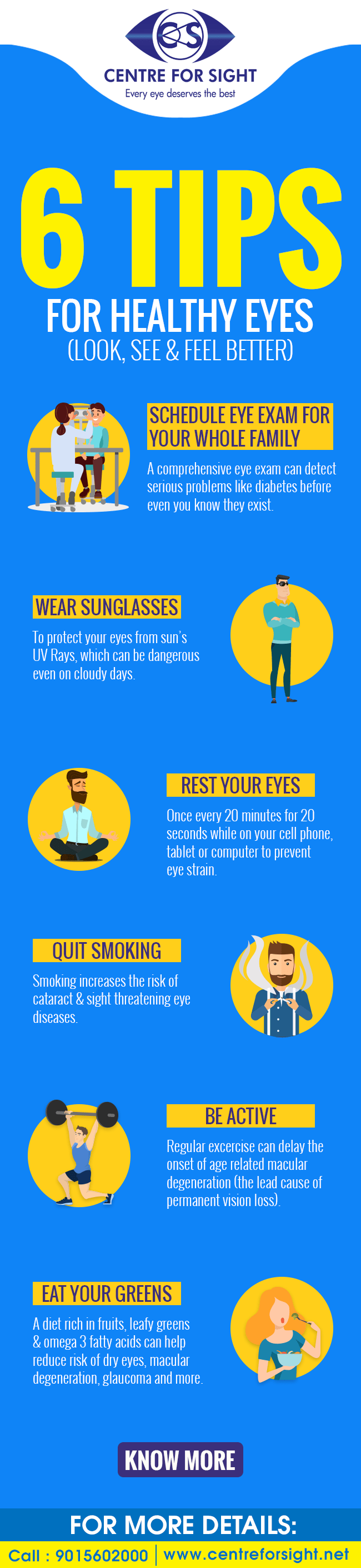Do These 6 Things To Keep Your Eyes Healthy - Infographic