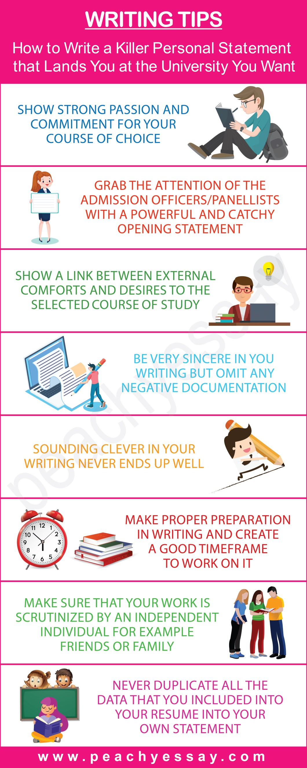 Express To Impress: Tips On Writing A Great Personal Statement - Infographic