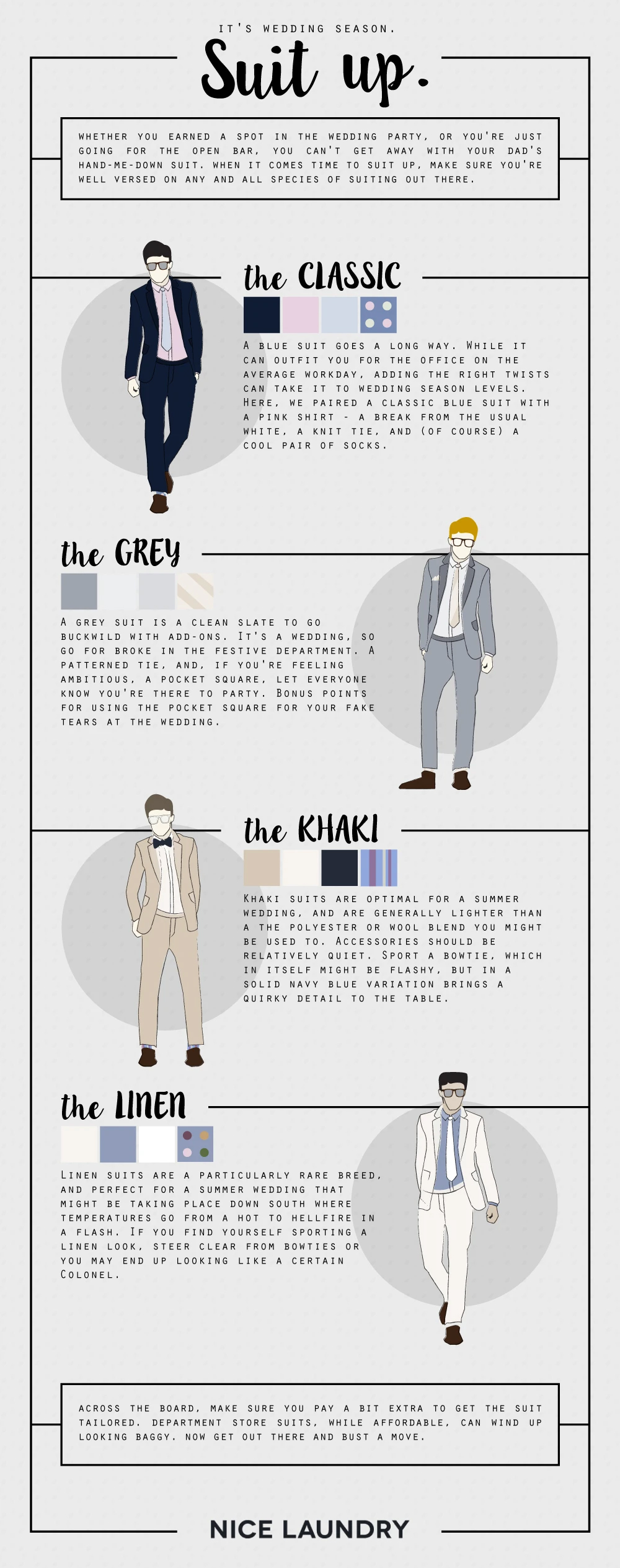 Suit Up Right This Wedding Season: 4 Styles To Choose From - Infographic