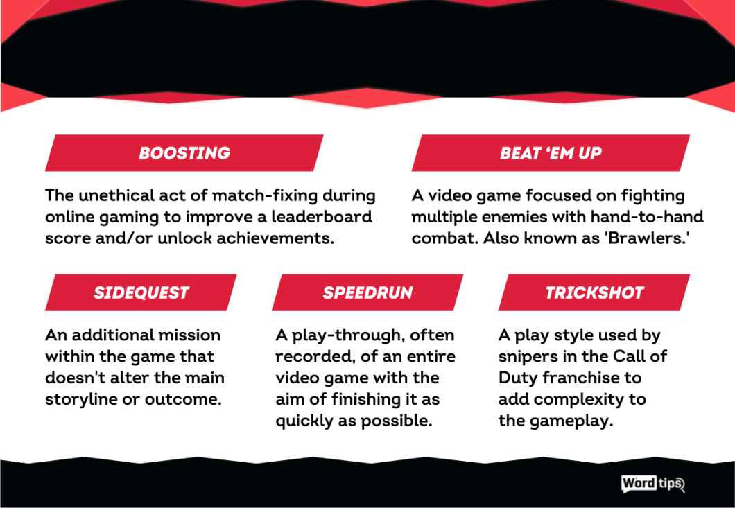 15 Commonly Used Gaming Words