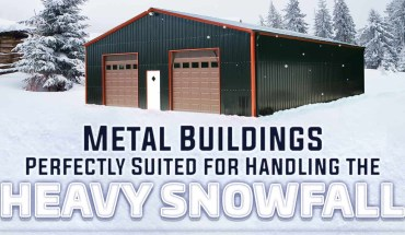 Metal Buildings: Perfectly Suited for Handling the Heavy Snowfall - Infographic