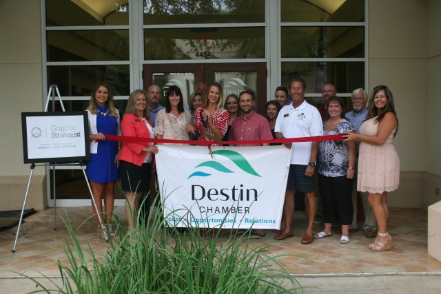 Clients , friends, and business affiliates showed support for Graphic Strategist at my Ribbon Cutting ceremony