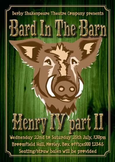 Derby Shakespeare 'Bard in the Barn' poster