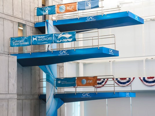 Greensboro Aquatic Center - Diving Platforms | Graphic Visual Solutions - Wide-Format Graphics