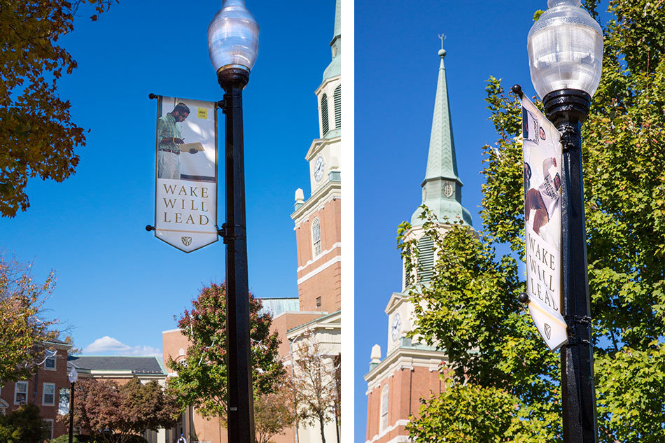 Wake Forest University - Quad Pole Banners | Graphic Visual Solutions - Wide-Format Graphics