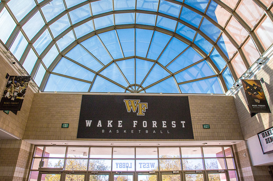 Wake Forest University - Interior Event/Arena Signage | Graphic Visual Solutions - Wide Format Graphics