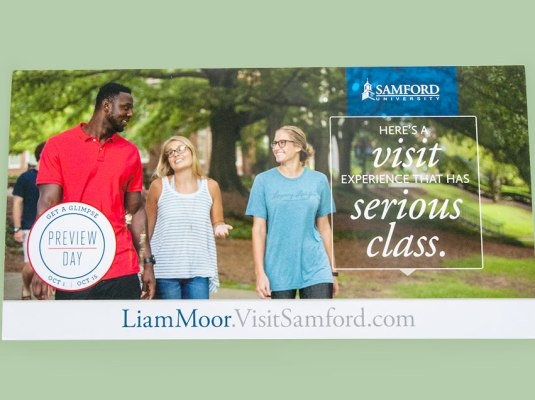 Samford University - Samford Visit Campaign | Graphic Visual Solutions - Cross Media Campaigns