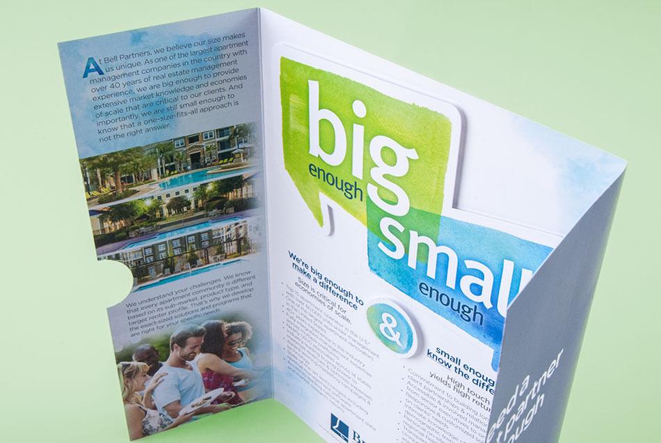 "Bell Partners - ""Big Enough/Small Enough"" Brochure | Graphic Visual Solutions - Printed Materials"