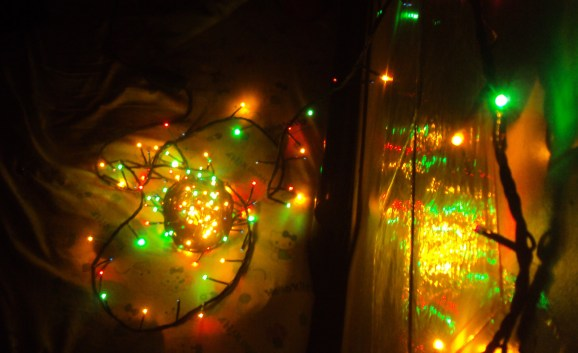Untangling the fairies to light my bed.
