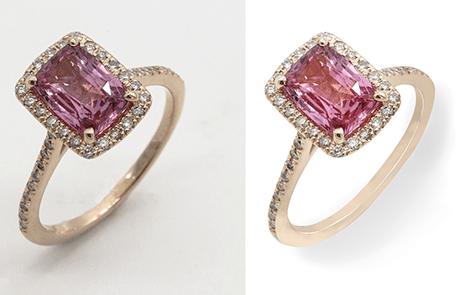 jewelry photo editing portfolio