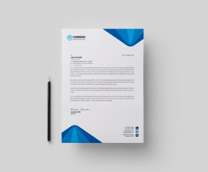Elegant Professional Corporate Letterhead Template