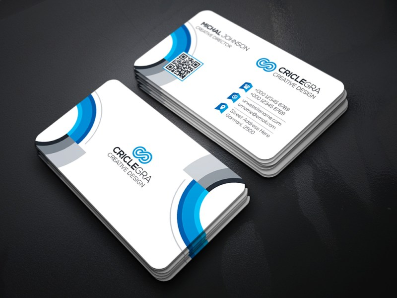 White Elegant Business Card Template