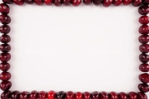 Cherry frame stock photo