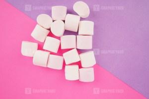 Puffy marshmallows on background stock photo