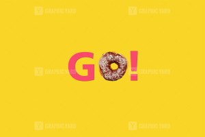 Go word made with donut
