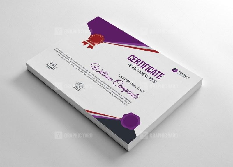 School Certificate Template