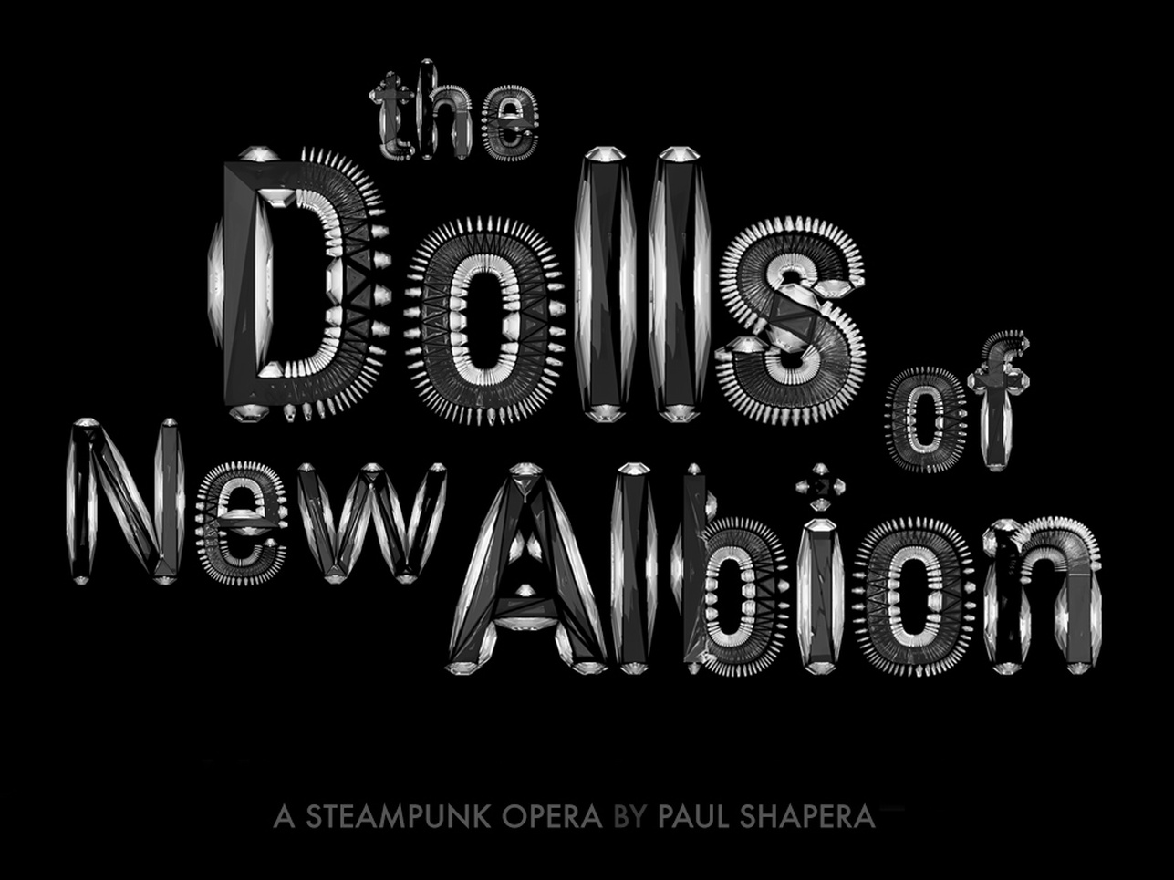 The Dolls Of New Albion (Typographic Identity For