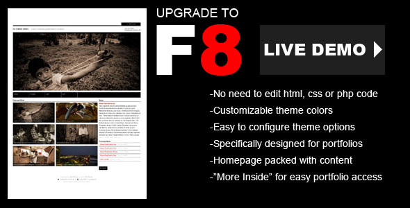 check out f8 theme for wordpress