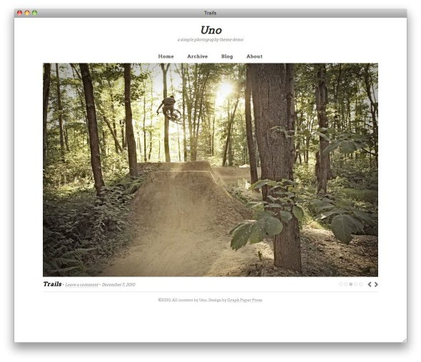 Uno photo gallery theme for WordPress