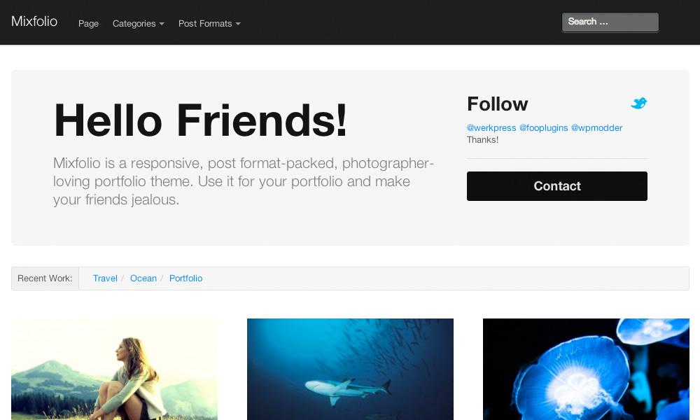 Mixfolio WordPress Theme | Graph Paper Press