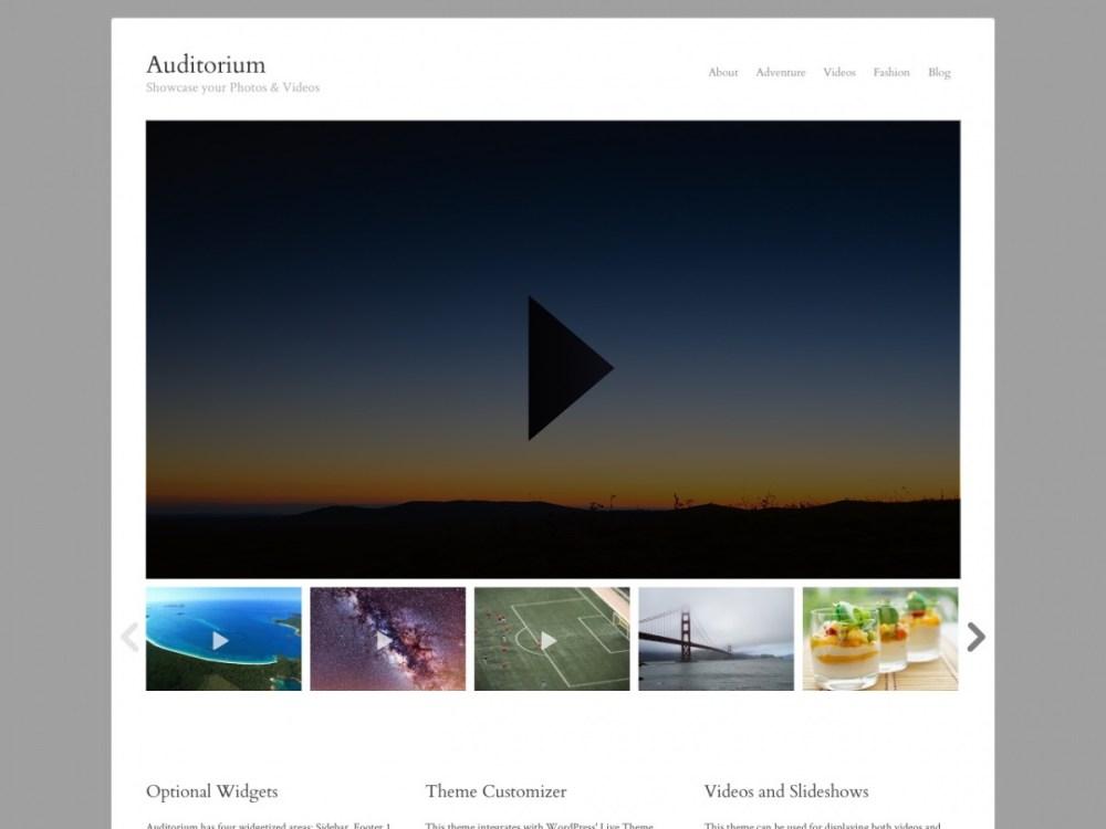Auditorium - Video WordPress Theme | Graph Paper Press