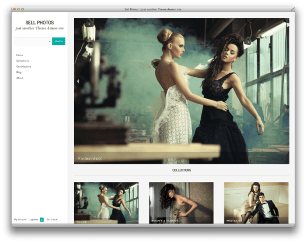Sell Photos with WordPress Theme